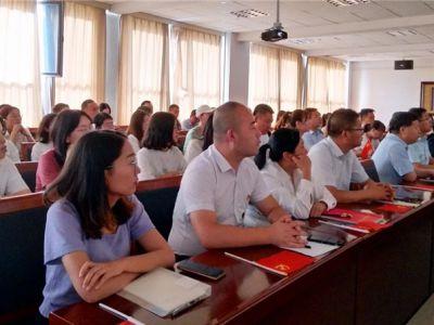 兰州成功学校党支部组织全体职工观看庆祝中国共产党成立100周年大会直播盛况